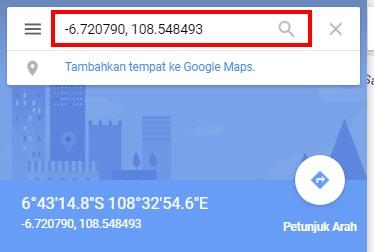 Mencari Latitude dan Longitude Google Maps di HP Android