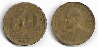 50 centavos, 1944 com sigla só no reverso