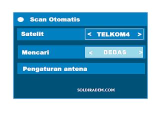 Cara Scan Otomatis agar SCTV dan indosiar Ada di Telkom 4