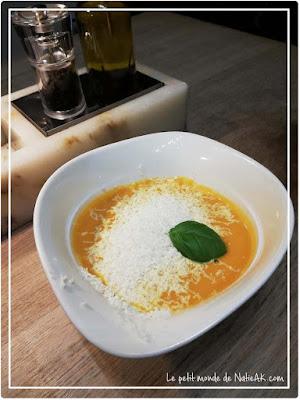 soupe courge, lait de coco