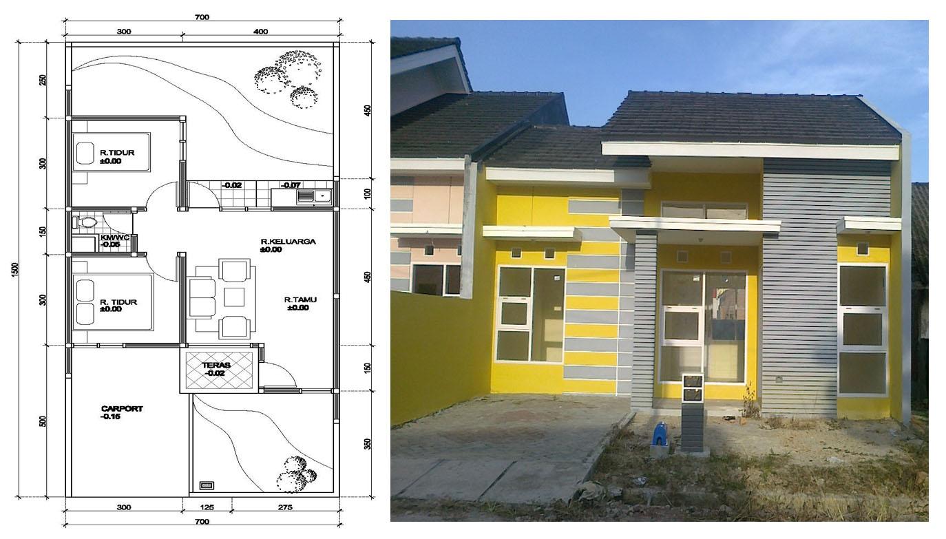 100 Contoh Gambar Desain  Rumah  Minimalis  1 Lantai Tampak