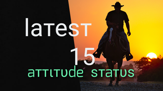 Latest 15 Attitude status