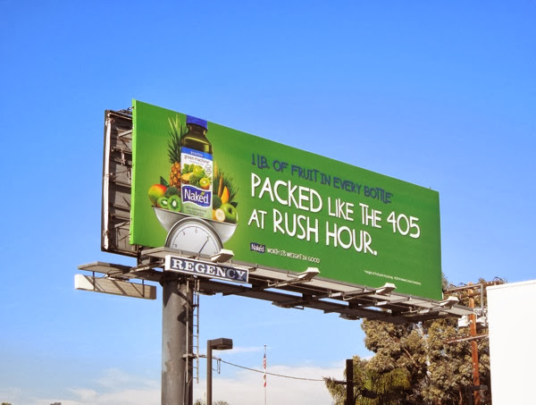405 rush hour Naked Juice billboard