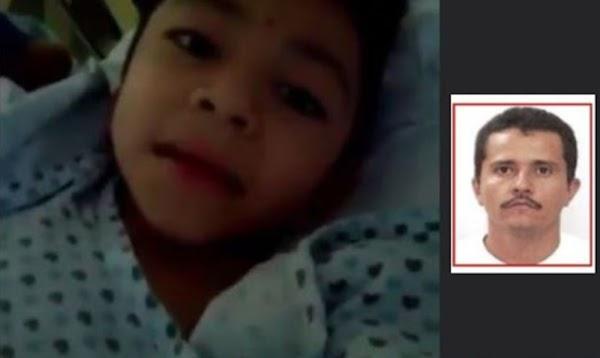 Niño con hueso de cristal, pide ayuda al Mencho para conseguirle clavos especiales y medicamentos