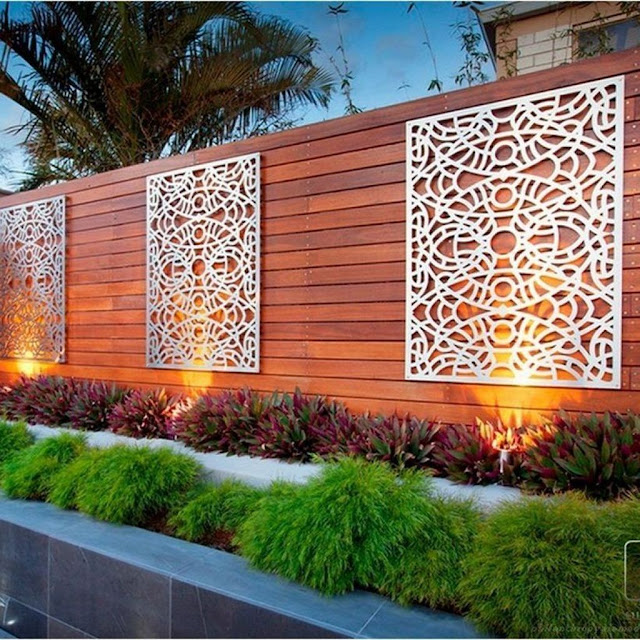 Nice Backyard Wall Privacy Fence Design Ideas
