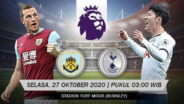 Prediksi Burnley Vs Tottenham Hotspur, Selasa 27 Oktober 2020 Pukul 03.00 WIB @ Mola TV