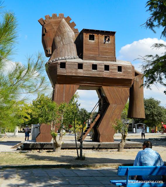 Cavalo de Troia no Sítio Arqueológico de Troia, Turquia