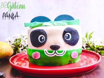 Gâteau panda poire chocolat