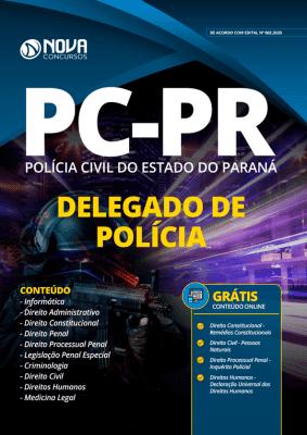 Apostila Concurso Polícia Civil PR 2020 Delegado de Polícia Grátis Cursos Online