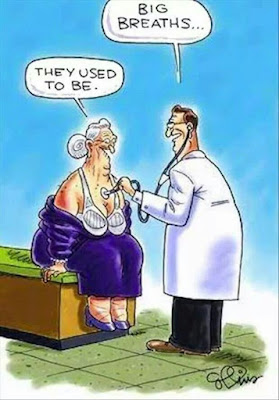 funny old woman doctor big breaths cartoon joke picture