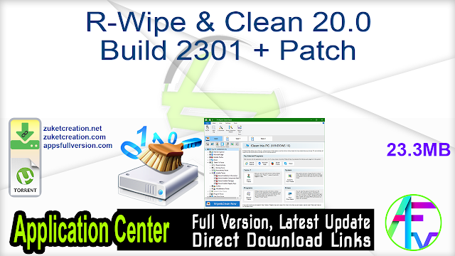R-Wipe & Clean 20.0 Build 2301 + Patch