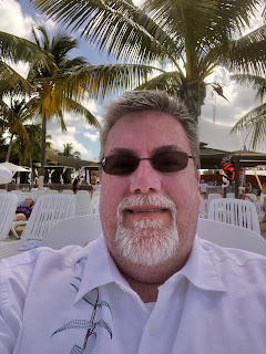David Brodosi  on beach in Cozumel Mexico