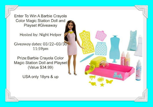 Barbie Crayola Color Magic Station Doll and Playset Giveaway - ends 3/30!