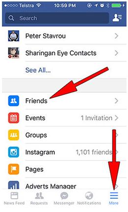 Facebook com login find friends