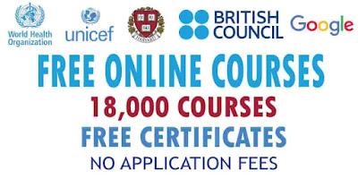18000 من أفضل الدورات التدريبية المجانية عبر الإنترنت مع شهادات مجانية