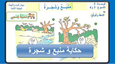حكاية منبع و شجرة للسنة الثالثة