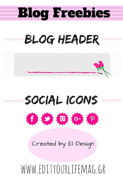 Blog Freebies: Blog Header & Social Icons