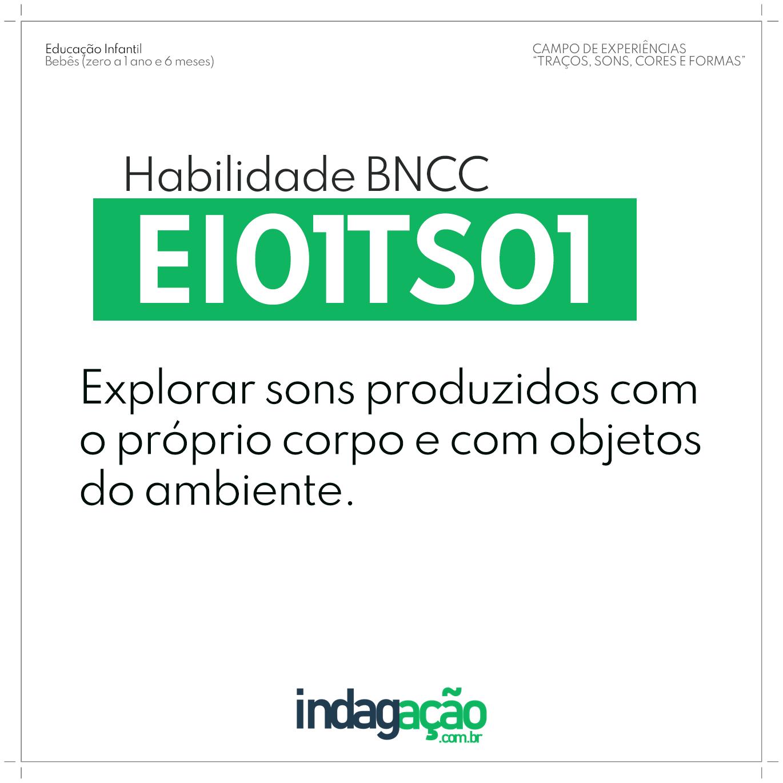 Habilidade EI01TS01 BNCC