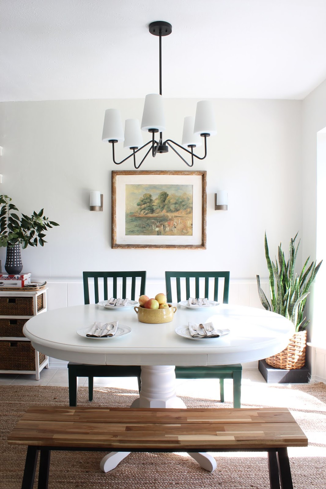 Something different late fall home tour forrest green krylon spray paint chairs| House Homemade