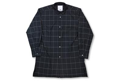BLACK&BLUE [ ロングシャツ ] ブラックチェック