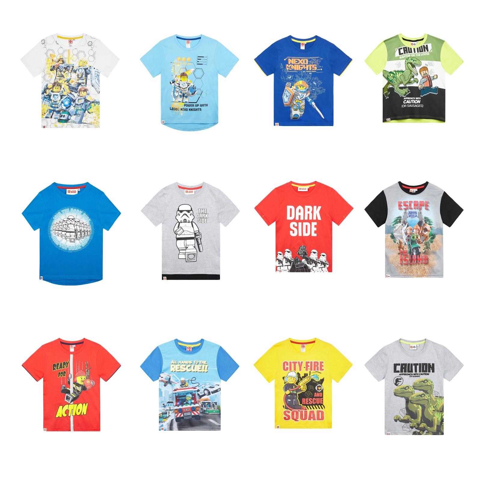Boys Kids Official Lego Nexo Knights Light Blue Short Sleeve T Shirt Top