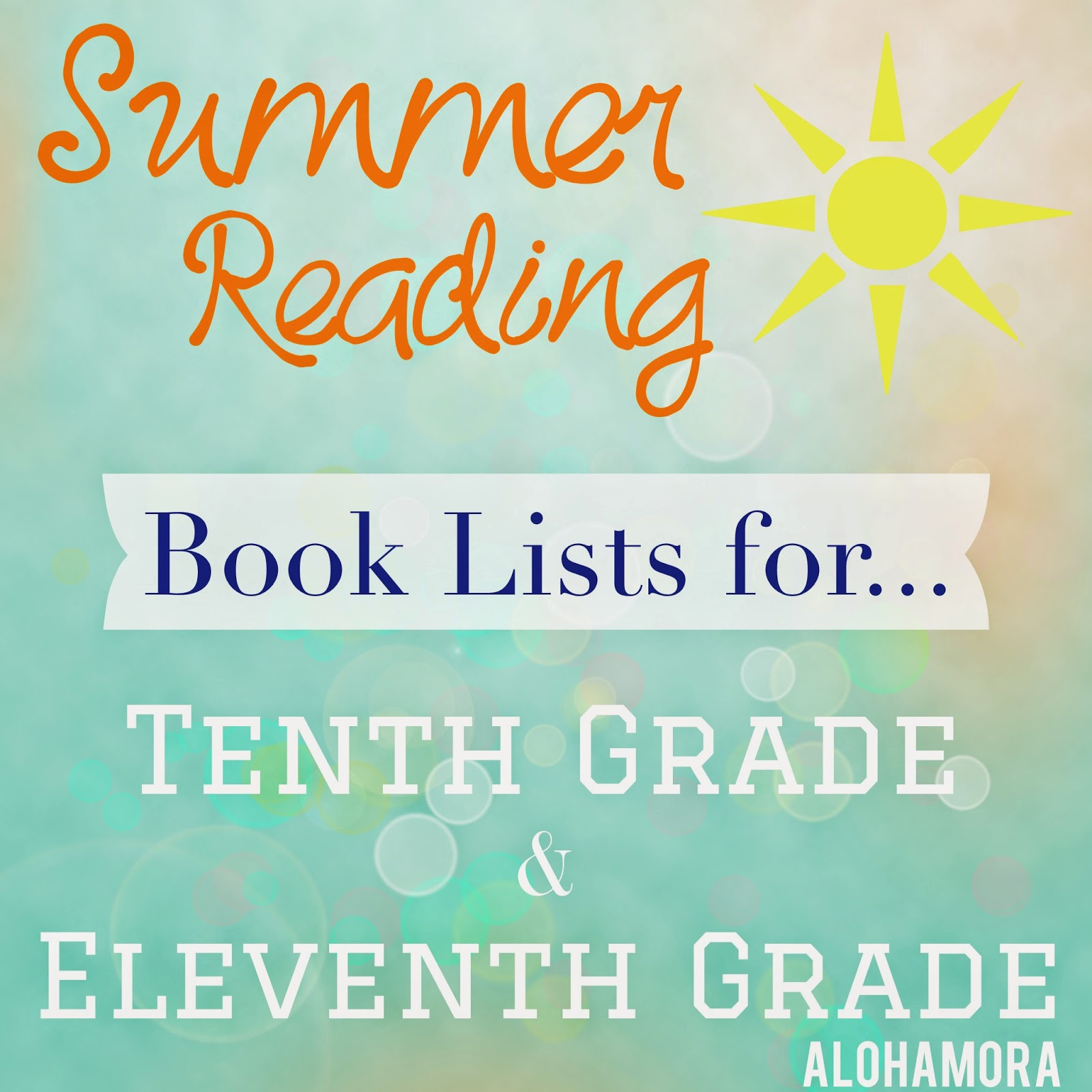 Summer Reading book lists for kids going into tenth (10th) and eleventh (11th) grades.  Great books for boys, girls, reluctant readers, adults, parents, teachers, and more. Alohamora Open a Book  http://alohamoraopenabook.blogspot.com/