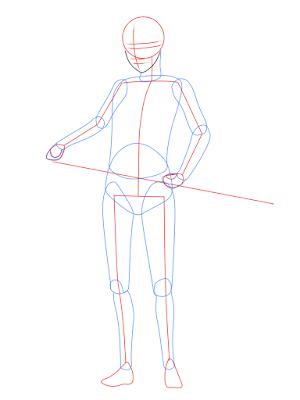 cara menggambar Sasuke Hebi tahap 5