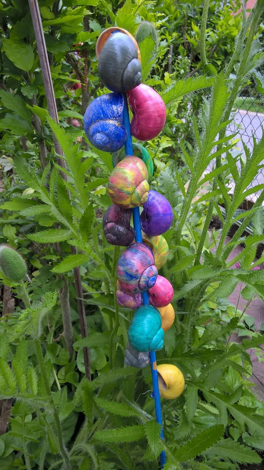 Gestalten Und Basteln Gartendeko Schneckenstab