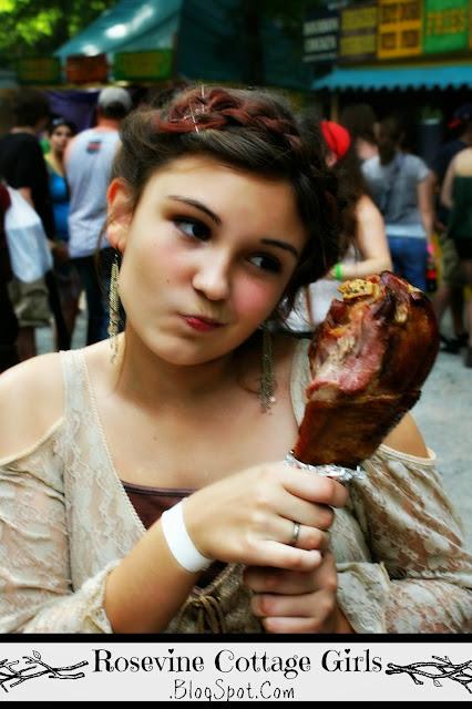 Tennessee Renaissance Festival - girl with a turkey leg