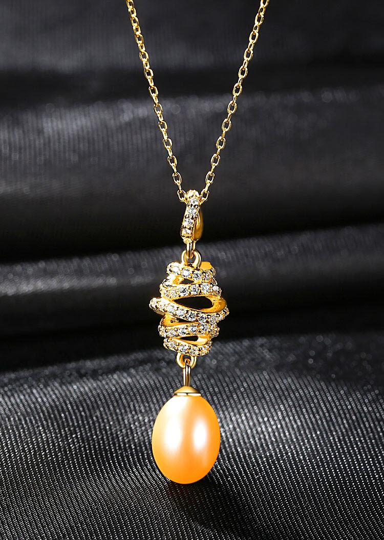 粉黛典雅宮廷風 925純銀淡水真珍珠項鍊