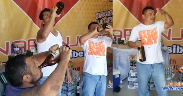 Surge el concurso de 3 mil pesos a quien se acabe primero la caguama bien fría