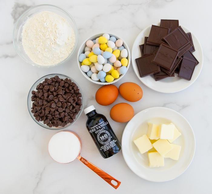 chocolate mini egg cookies ingredients