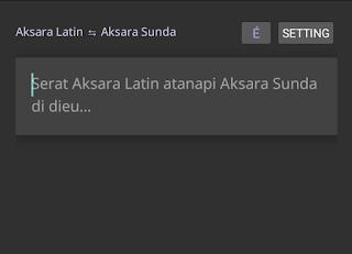 tulis aksara latin sunda