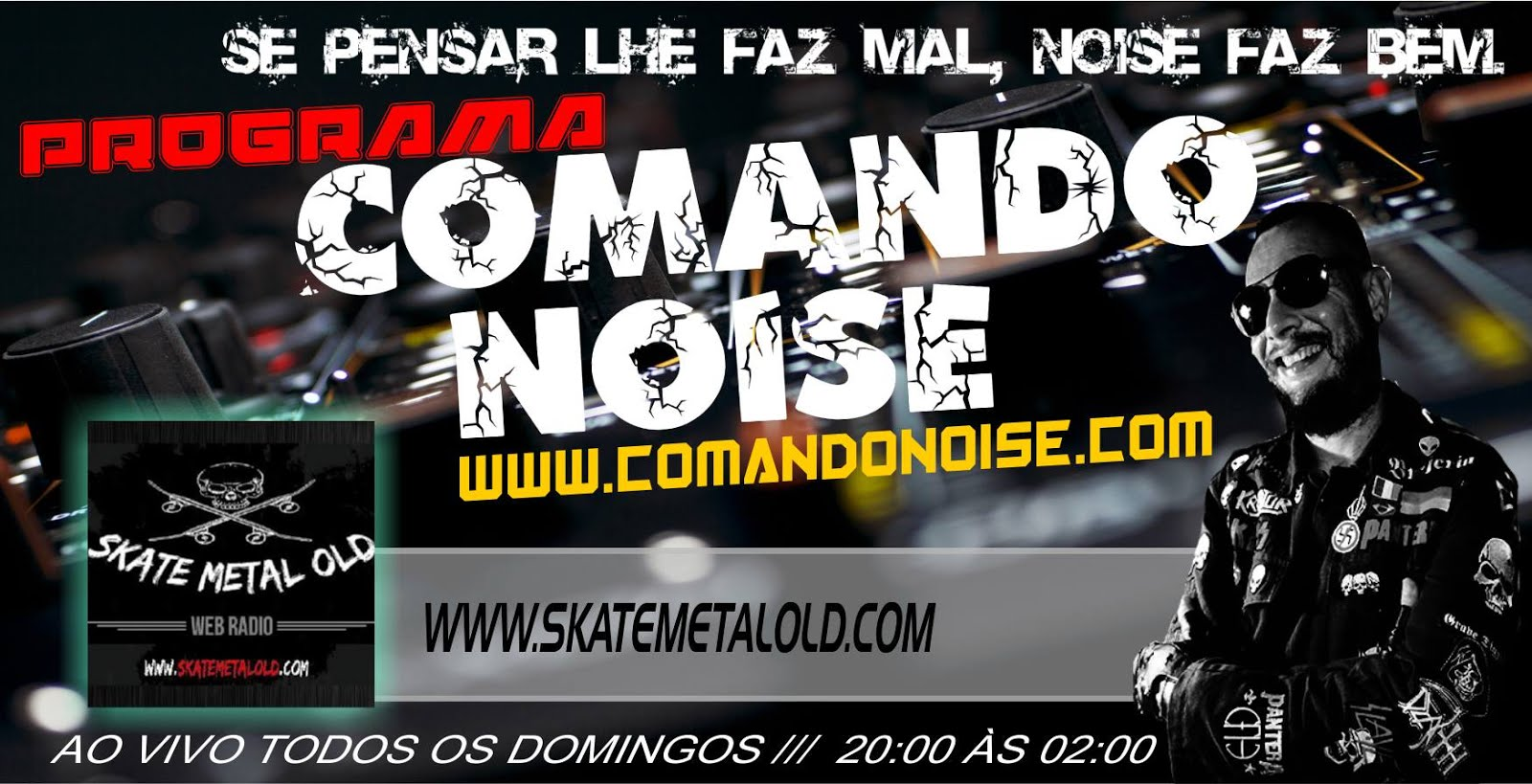 COMANDO NOISE NA WEB RÁDIO SKATE METAL OLD