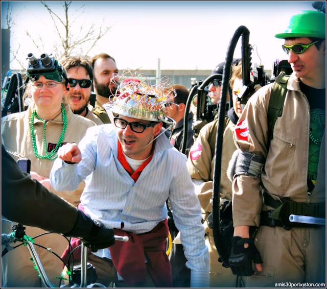 Disfraces de Los Cazafantasmas durante el Desfile de San Patricio en Boston