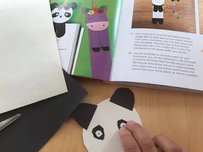 Making a paper panda craft