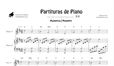 Boulevard of broken dreams de Green Day Partitura para Piano