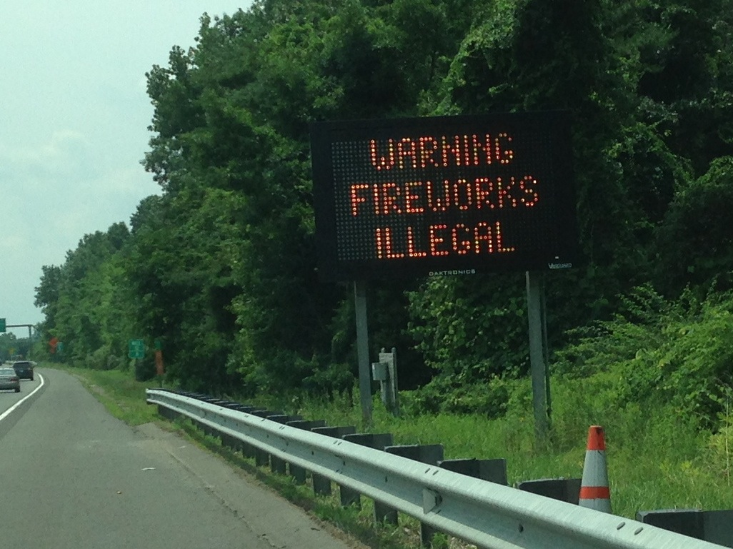 Warning fireworks illegal