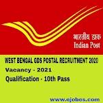 WB GDS Postal Recruitment 2020   Apply online for 2021 Post