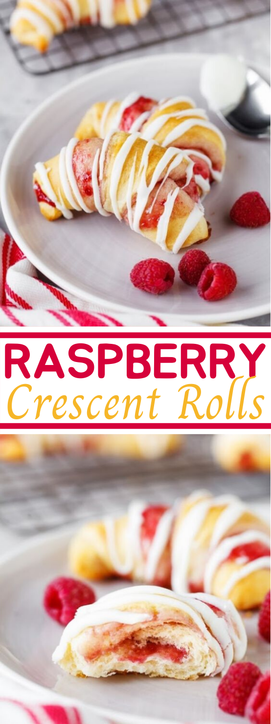 Raspberry Crescent Rolls #easy #dessert #pastry #baking #rolls