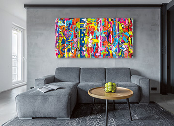 graffiti art, abstract art, buy art, buy graffiti, buy art online, original art, artist, artwork, wall art, multi coloured, Sam Freek,