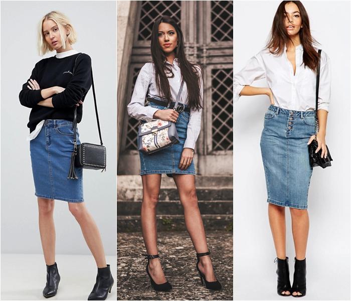 Come indossare la gonna di jeans