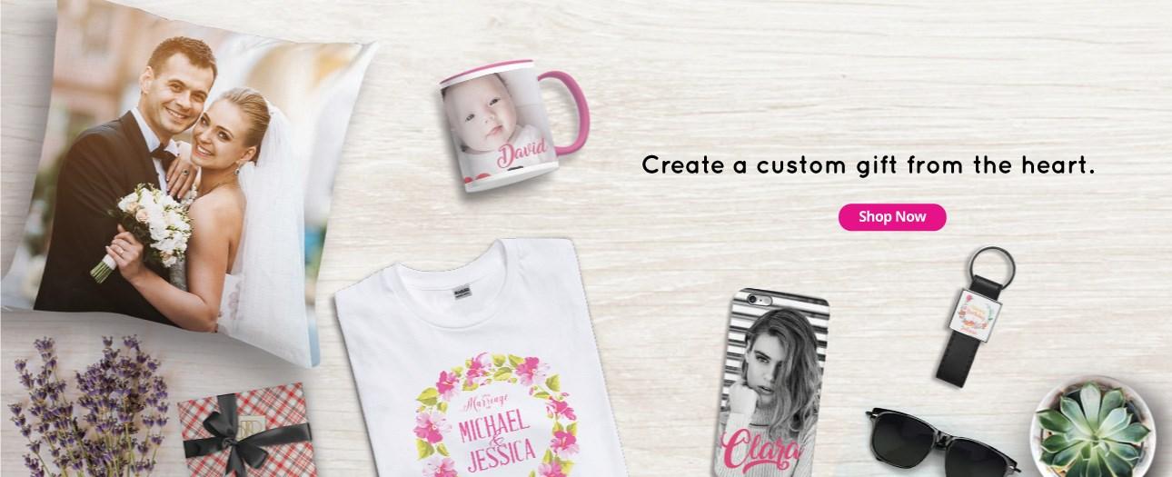 Design Sendiri Hadiah dan Barangan Peribadi di Printcious