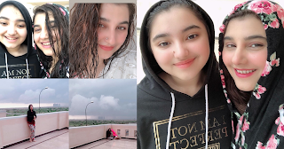 Rain in Karachi - Javeria Saud Enjoying with her Daughter