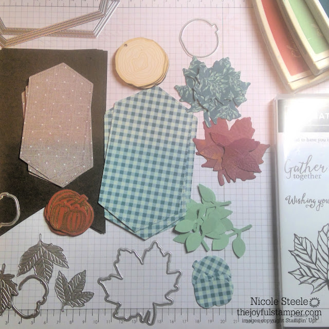 fall banner components using Stampin' Up!'s Come To Gather suite - shop with Nicole Steele The Joyful Stamper
