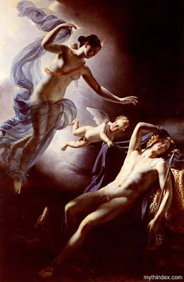Diana (Selene) and Endymion, by Jérôme-Martin Langlois (1779-1838), French Neoclassical painter