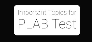 Important topics for PLAB 1 test