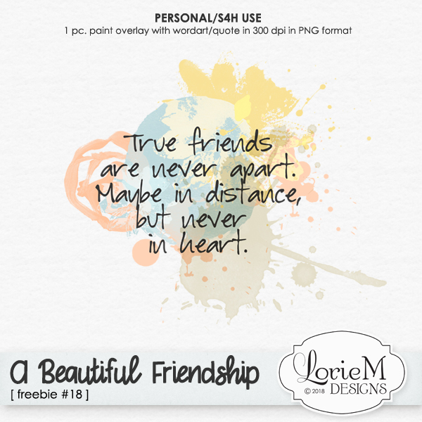 A Beautiful Friendship Collection, $1.50 Each + Freebie