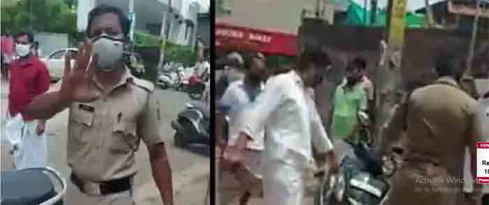 Did not wear a helmet; Dispute between police and passenger, Malappuram, News, Police, Complaint, Kerala, Social Media, Kerala