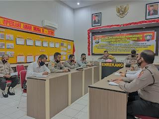 Operasi Bina Waspada Lipu 2020-Covid 19, Binmas Polres Enrekang Lakukan Latpra Ops